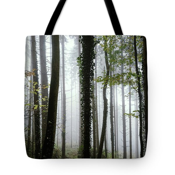 Foggy Forest Tote Bag by Chevy Fleet