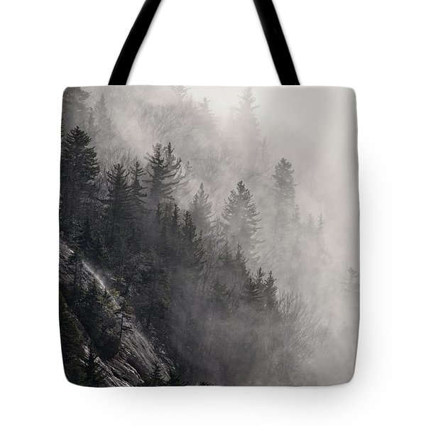 Tote Bag featuring the photograph Foggy Mountain Forest by Ken Barrett