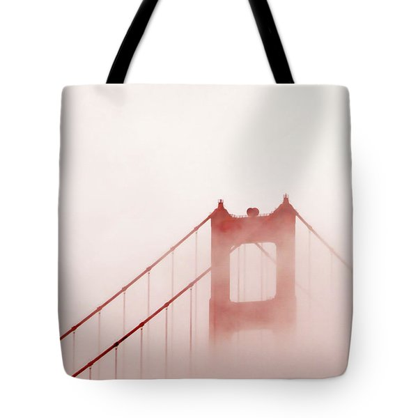 Tote Bag featuring the photograph Foggy Golden Gate by Art Block Collections