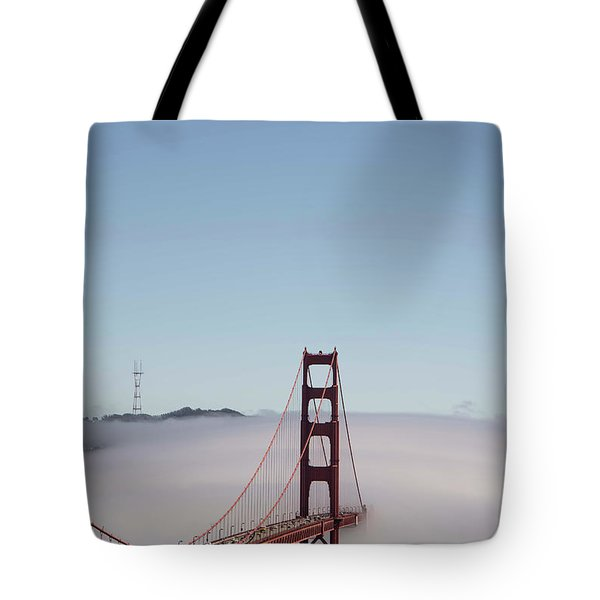 Tote Bag featuring the photograph Foggy Golden Gate by David Bearden