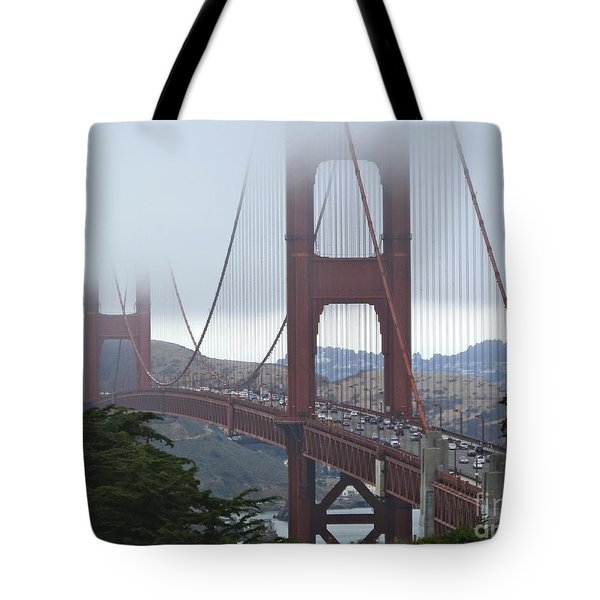 Foggy Golden Gate Tote Bag