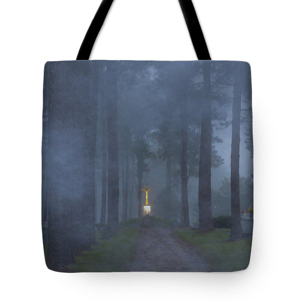 Foggy Hallowed Ground Tote Bag