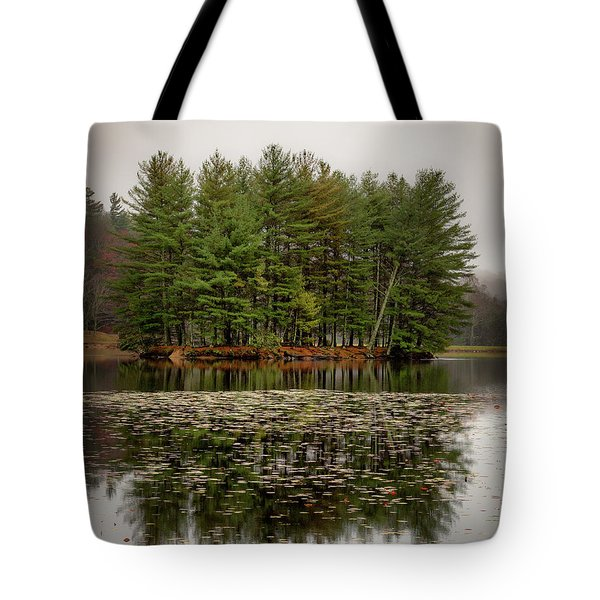 Foggy Island Reflections Tote Bag