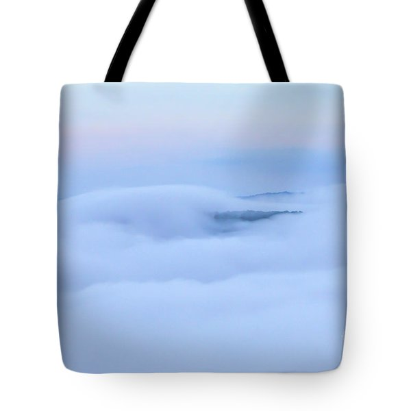 Tote Bag featuring the photograph Foggy Layers by Kerri Farley