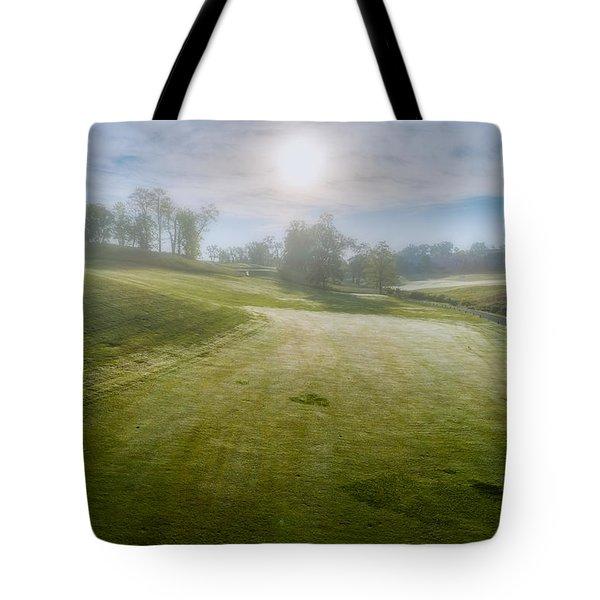 Foggy Look Back Tote Bag