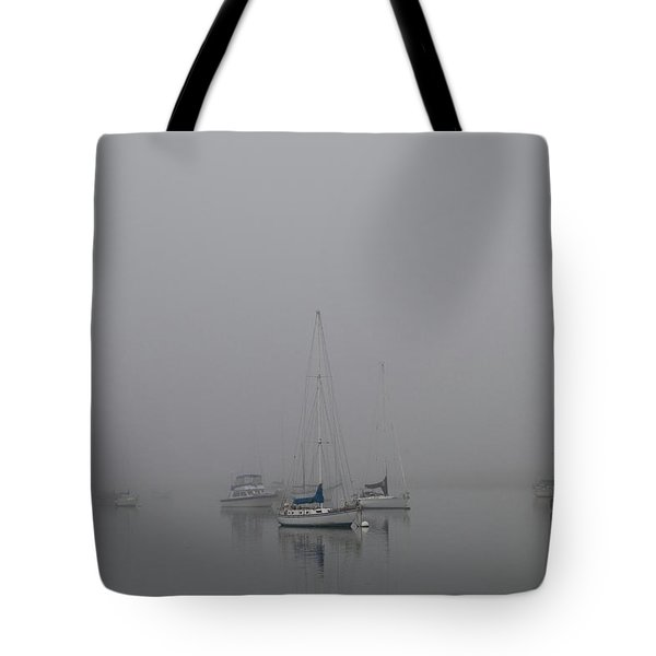 Waiting Out The Fog Tote Bag