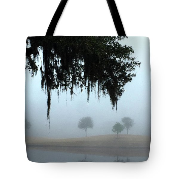 Foggy Morn Reflections Tote Bag