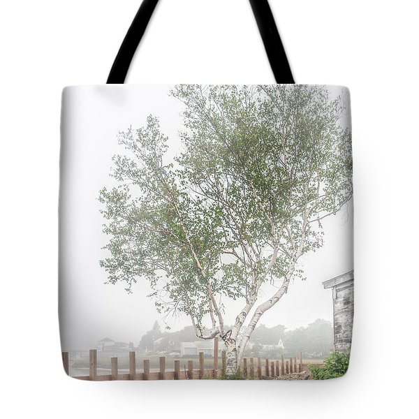 Foggy Morning At Camp Ellis Tote Bag