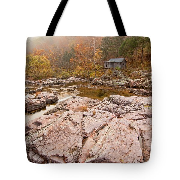 Foggy Morning At Klepzig Mill Tote Bag