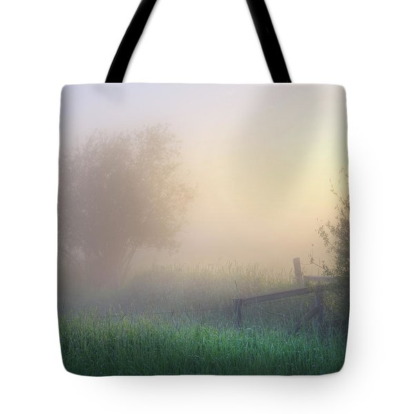 Tote Bag featuring the photograph Foggy Morning by Dan Jurak