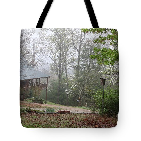 Foggy Morning In The Mountains Tote Bag