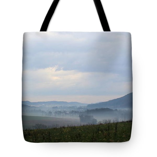 Foggy Morning In The Valley Tote Bag by Liz Allyn