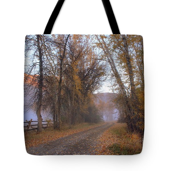 Foggy Morning Tote Bag by Irina Hays