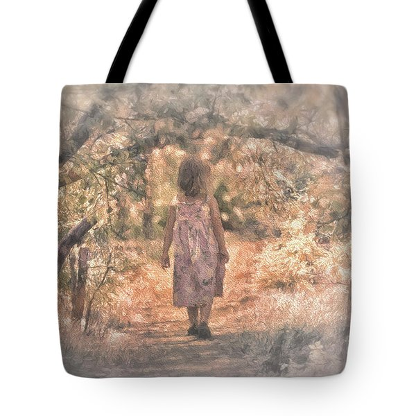 Foggy Morning Light Tote Bag