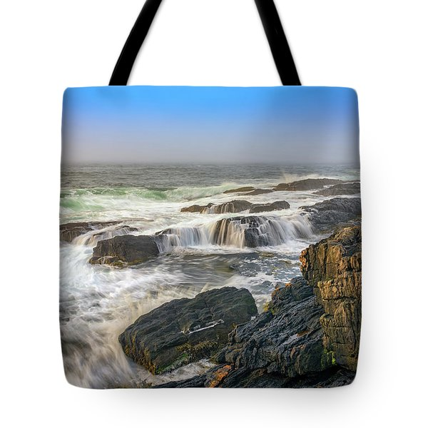 Foggy Morning On Giant's Stairs Tote Bag