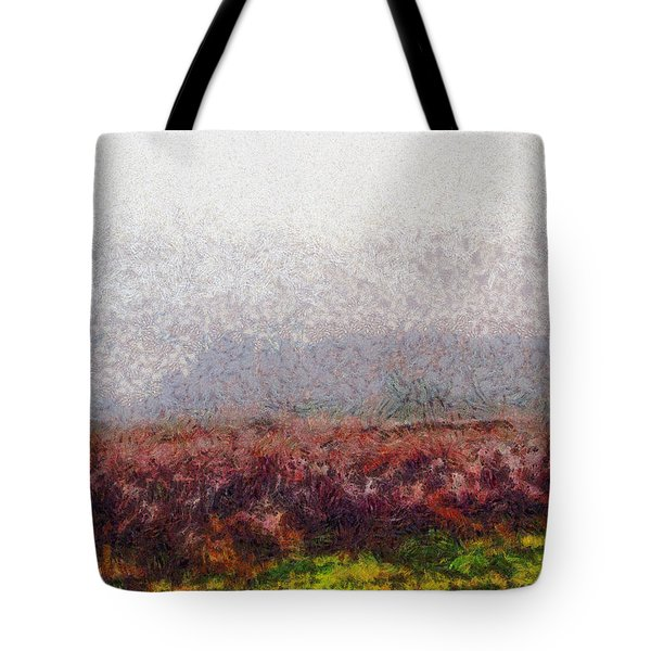 Foggy Morning Tote Bag by Spyder Webb