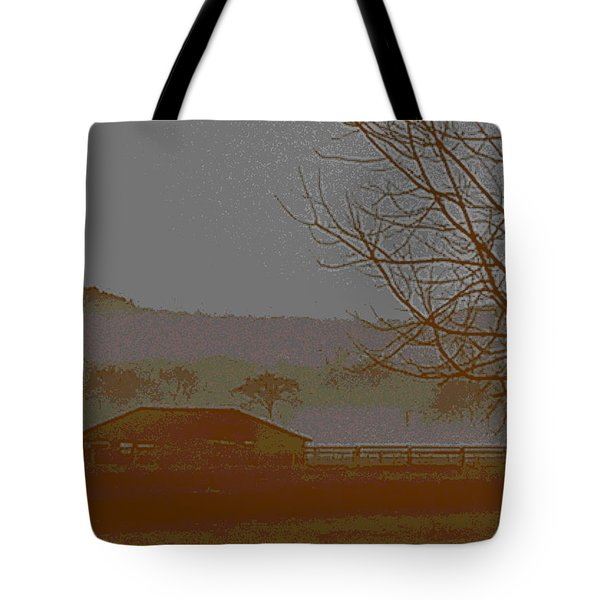 Tote Bag featuring the photograph Foggy Morning by W And F Kreations
