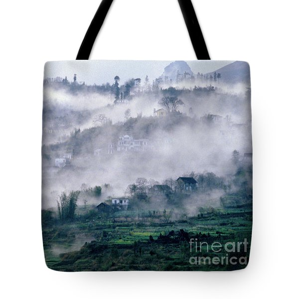 Foggy Mountain Of Sa Pa In Vietnam Tote Bag