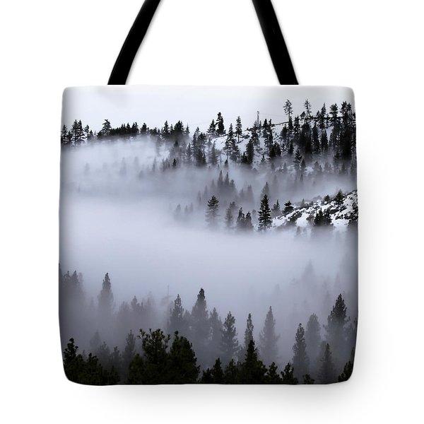 Foggy Mountain Pass Tote Bag