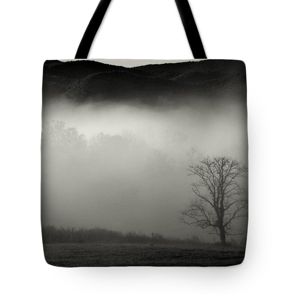 Foggy Mountain-tennessee Tote Bag