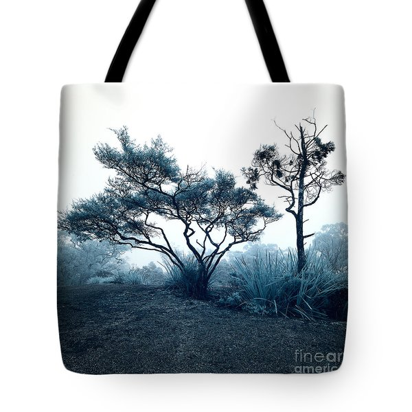 Foggy Mountaintop Tote Bag