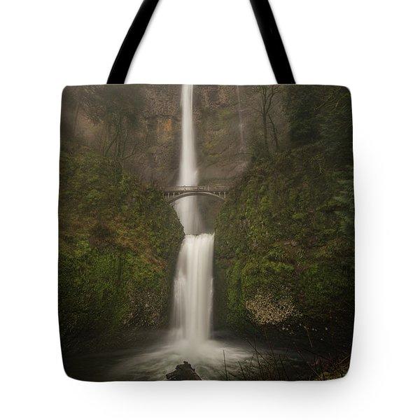 Foggy Multnomah Falls Tote Bag