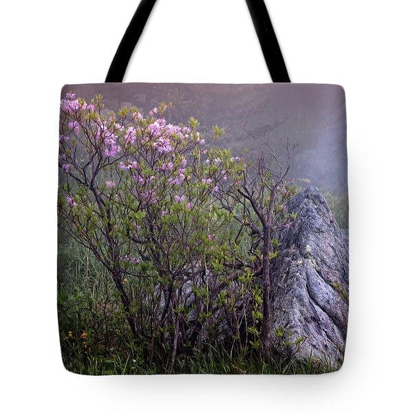 Foggy Pink Azalea Tote Bag
