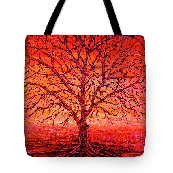 Foggy Red Tote Bag