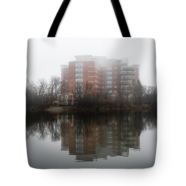 Foggy Reflection Tote Bag by Celso Bressan