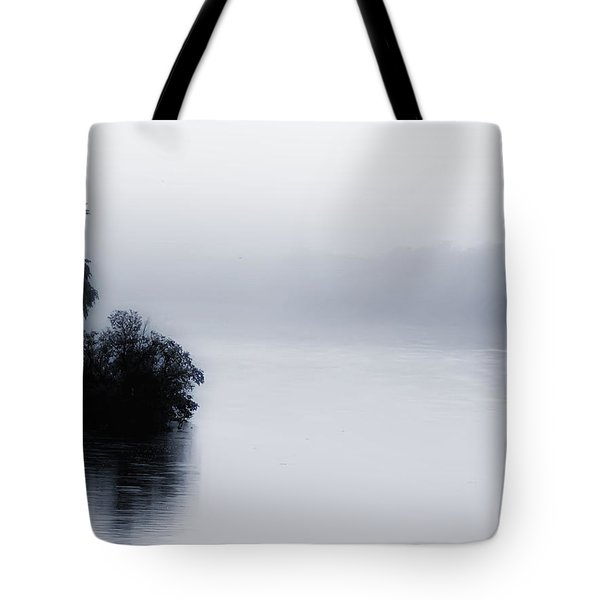 Foggy River Tote Bag by Bill Cannon