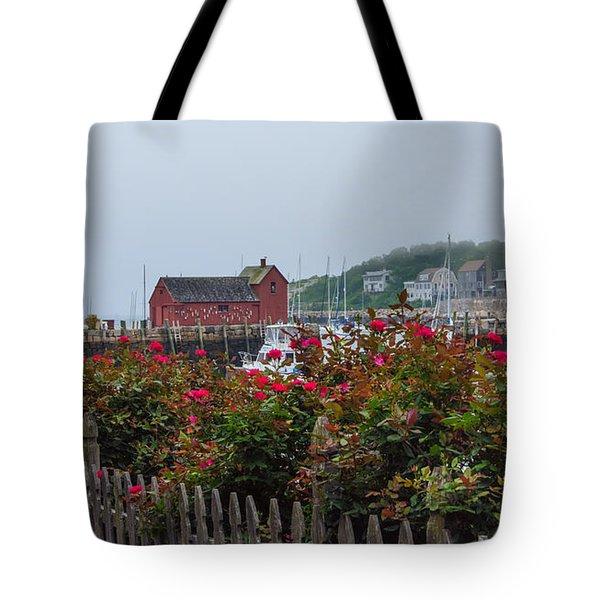 Foggy Roses Tote Bag