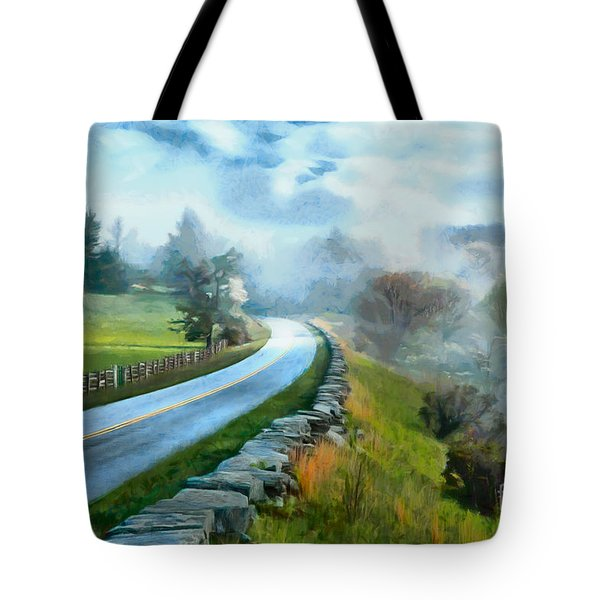 Foggy Spring Morning In Doughton Blue Ridge Parkway Ap Tote Bag