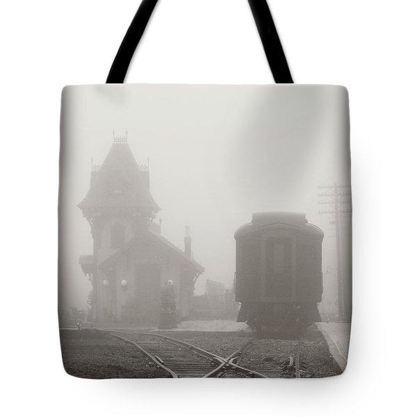 Foggy Station Tote Bag