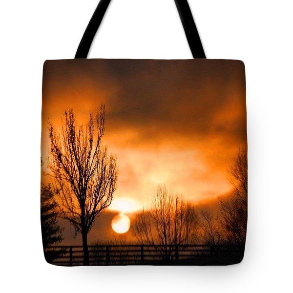 Foggy Sunrise Tote Bag