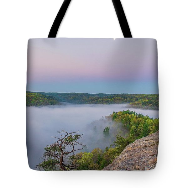 Foggy Valley Tote Bag by Ulrich Burkhalter