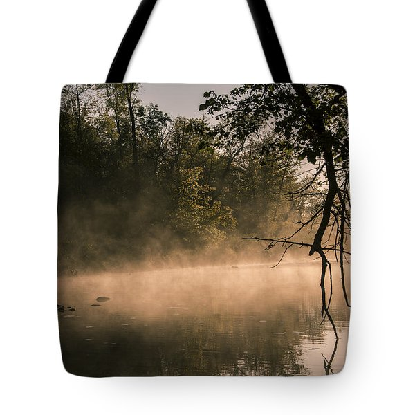 Foggy Water Tote Bag by Annette Berglund