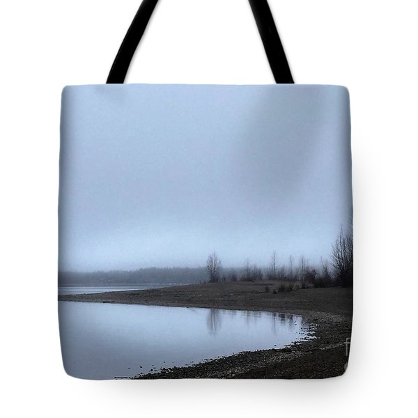 Tote Bag featuring the photograph Foggy Water by Victor K