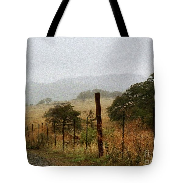 Foggy Wet Morning Tote Bag by Robert Ball