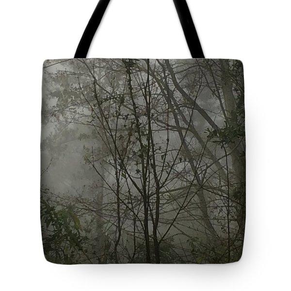 Foggy Woods Photo  Tote Bag