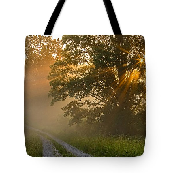 Fogy Summer Morning Tote Bag by Ulrich Burkhalter