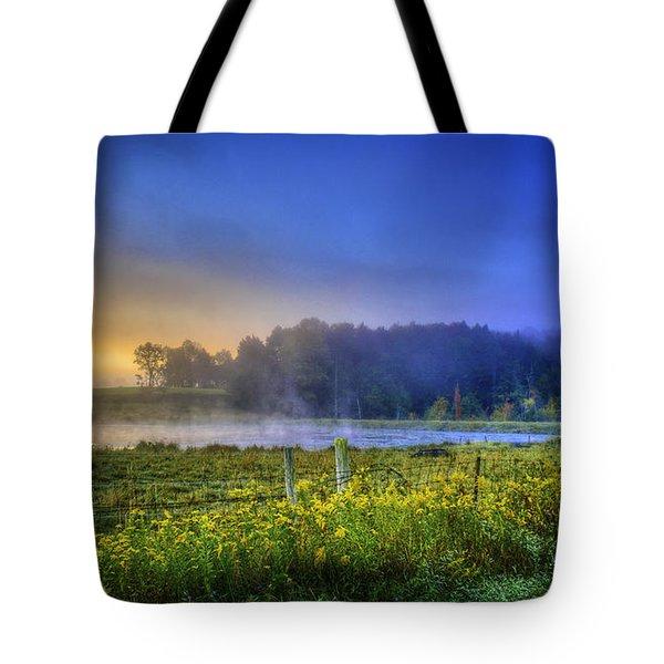 Fogy Sunrise  Tote Bag