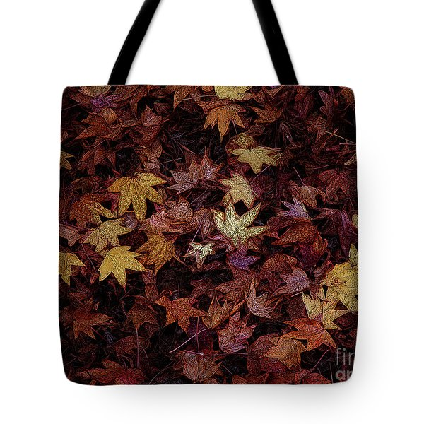 Foil Leaves Tote Bag by Robert Ball