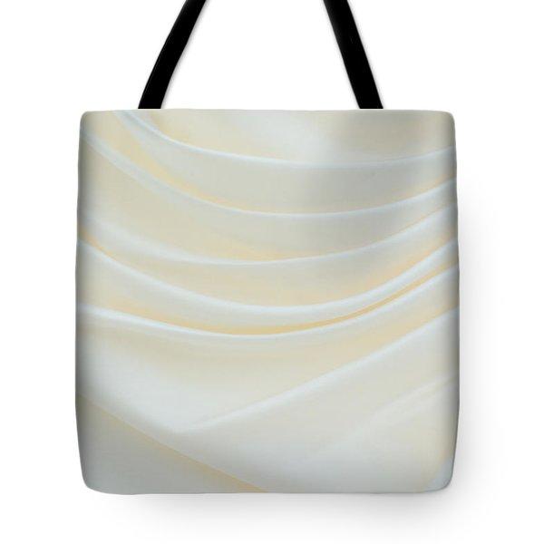 Folded Fabric Waves Tote Bag by Meirion Matthias