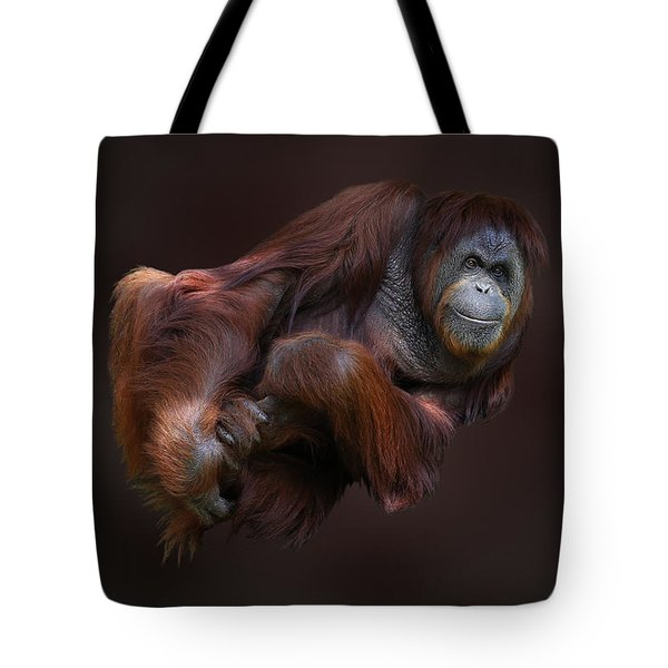 Folded Orangutan Tote Bag