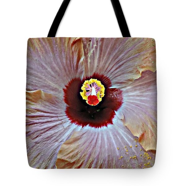 Tote Bag featuring the photograph Folding Petals by Peggy Stokes