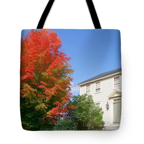 Tote Bag featuring the digital art Foliage Peak by Barbara S Nickerson