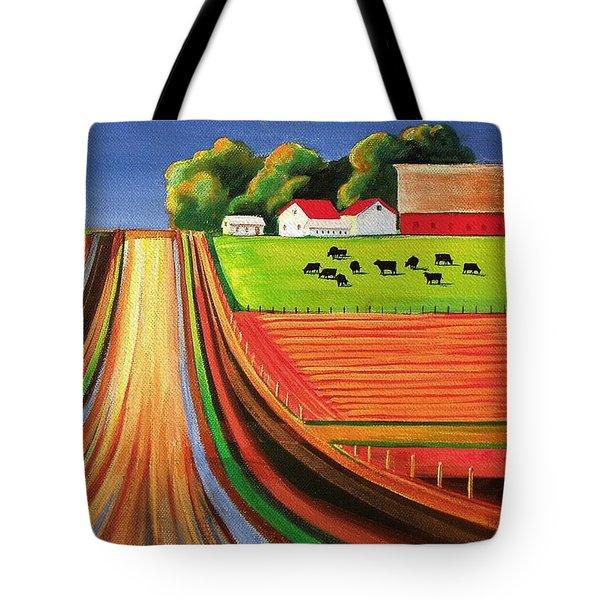 Folk Art Farm Tote Bag by Toni Grote