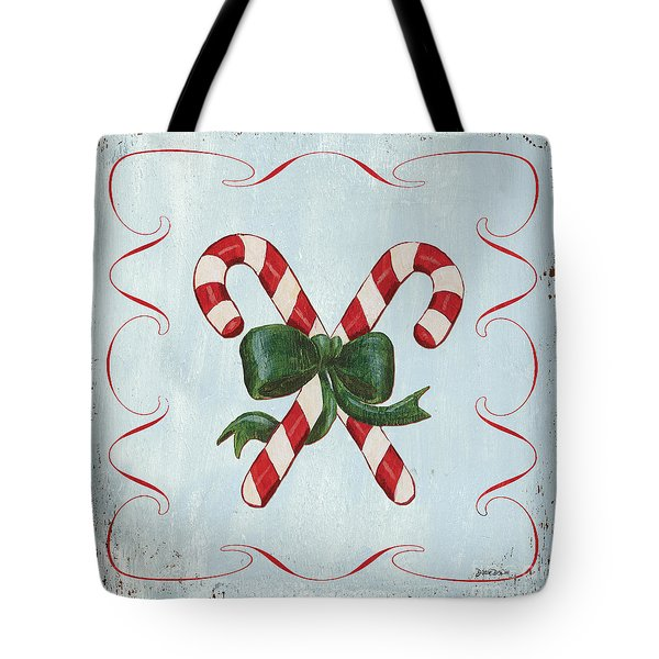Folk Candy Cane Tote Bag