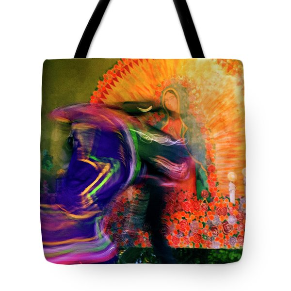 Folklorico Abstract Mexican Dancers Tote Bag
