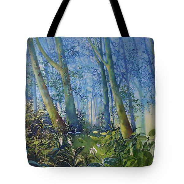 Follow Me Oil Painting Of A Magic Forest Tote Bag
